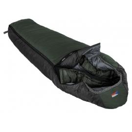 Spacák PRIMA MAKALU 220 zelený pravý zip - délka: 220 cm, šířka: 80 / 56 cm, max. výška postavy: 195 cm, hmotnost: 1,8 kg