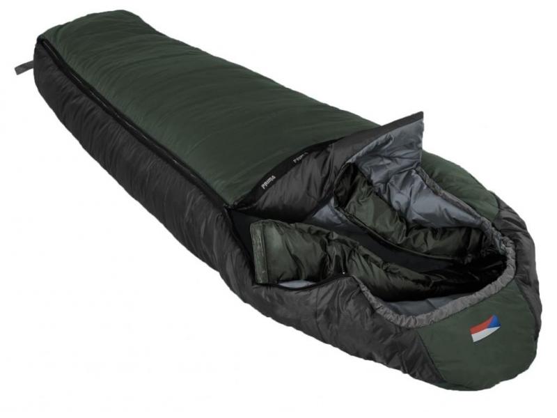 Spacák Prima Lhotse 200, zelený, pravý zip