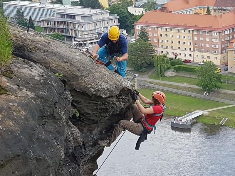Kurz záchrany na via ferratě Praha