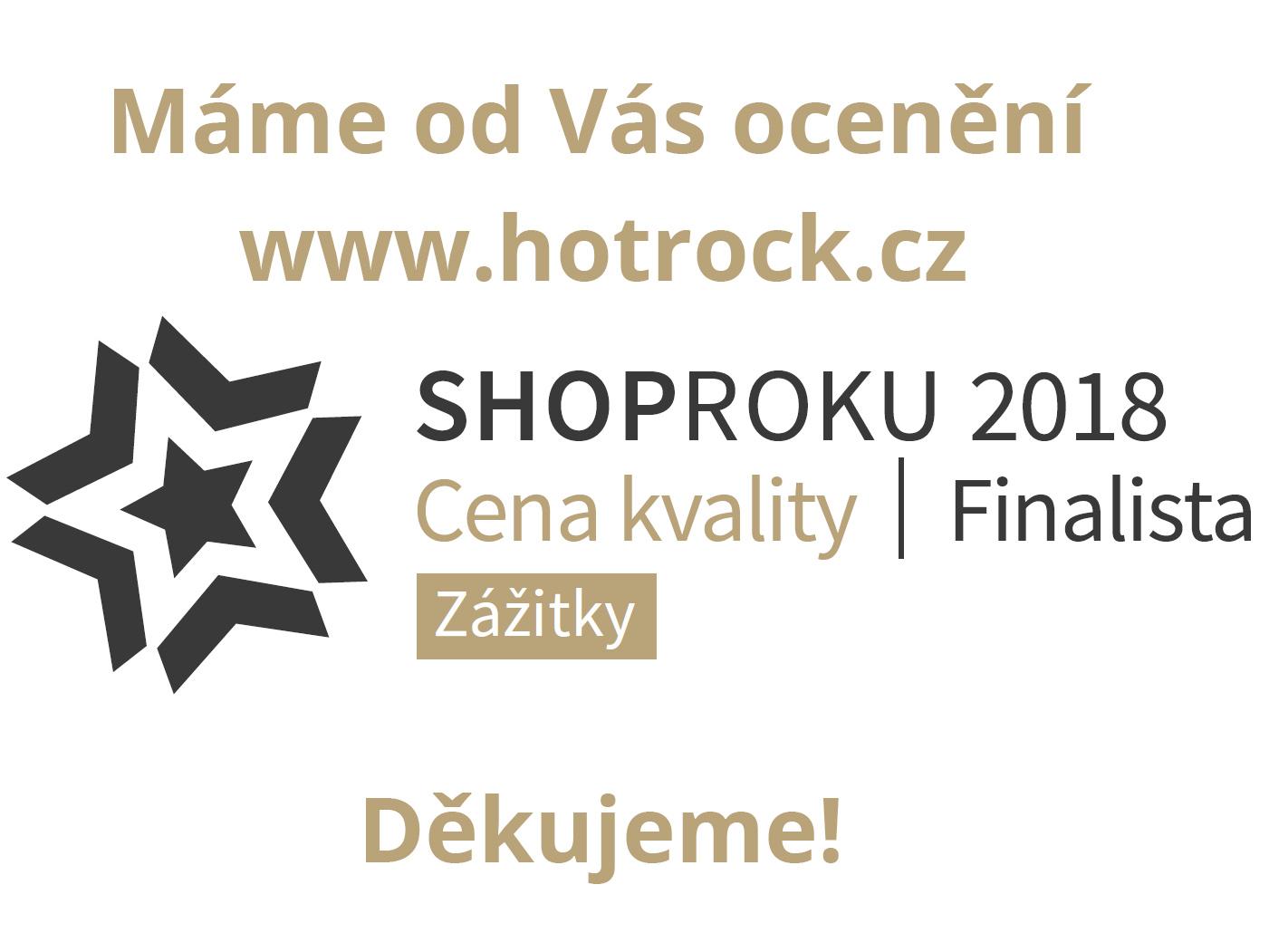 Hotrock.cz je finalistou ShopRoku 2018 v kategorii Zážitky