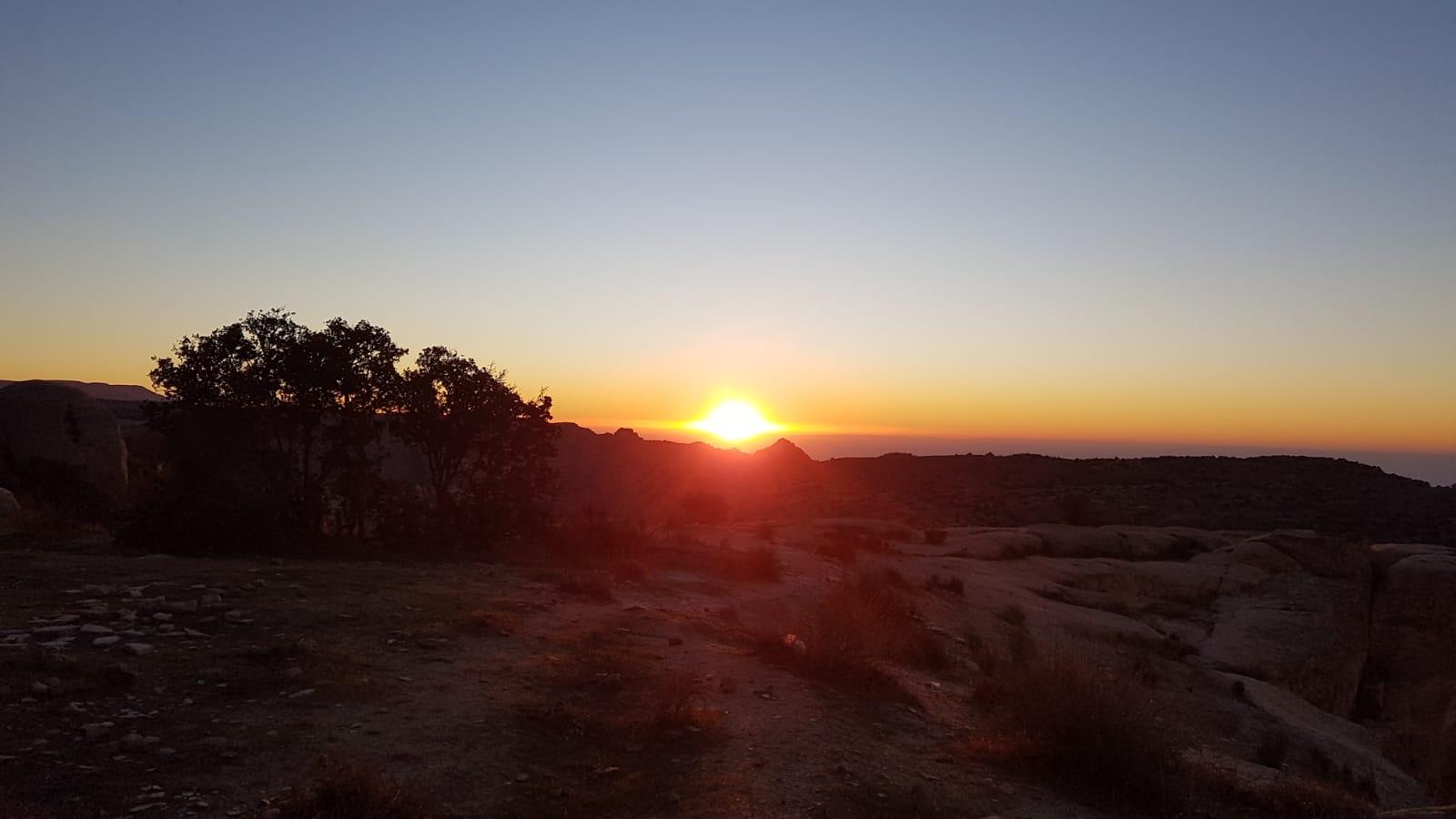 Západ slunce nad rezervací Dána